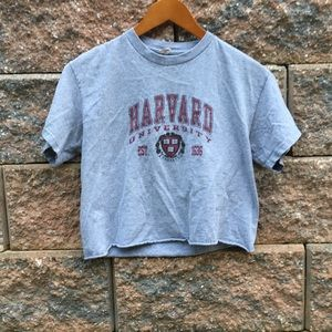 Harvard Cropped Graphic Tee